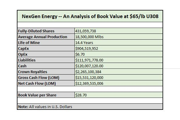 NexGen Energy Book Value
