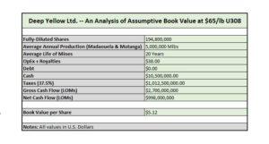 Deep Yellow Book Value